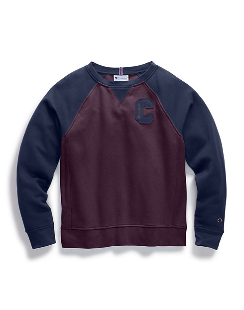 Champion Women's Heritage Fleece Crew, Block C