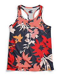 Champion Women's Reversible Floral Mesh To Jersey Tank