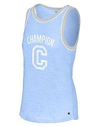 Champion Women's Heritage Ringer Tank, Big C Logo
