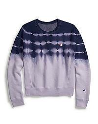 Champion Life® Women's Reverse Weave® Streak Dye Crew