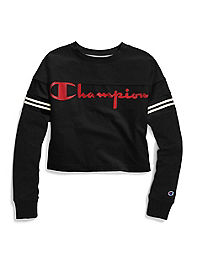 Champion Life® Women's Heavyweight Jersey Exaggerated Sleeve Tee, Script Logo