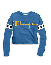 Champion Life® Women's Heavyweight Jersey Exaggerated Sleeve Tee, Script Logo