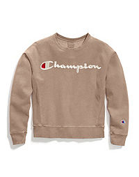 Champion Life® Women's Garment-Dyed Reverse Weave® Crew, Embroidered Logo