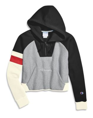 Champion Life® Women's Reverse Weave® Colorblock Oversized Half Zip Hoodie