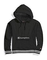 Champion Life® Women's Sideline Half Zip Hoodie, Reflective Logo