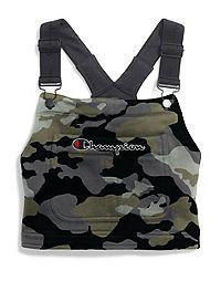 Champion Life™ Women's Super Fleece Overall Bib Crop Top, Camo Print