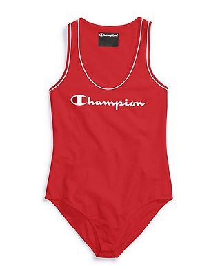 Champion Life® Women's Everyday Tank Top Bodysuit, Script Logo by Champion