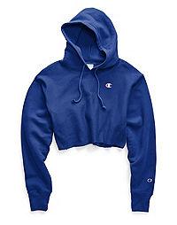 Champion Life® Women's Reverse Weave® Cropped Cut Off Hood-Men's Fit, C Logo