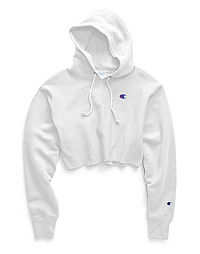 Champion Life® Women's Reverse Weave® Cropped Cut Off Hood-Men's Fit, C Logo