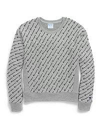 Champion Life® Women's Reverse Weave® Crew, All-over Logo