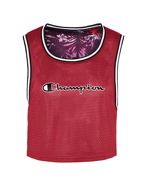 Champion Life® Women's Reversible Mesh Cropped Tank