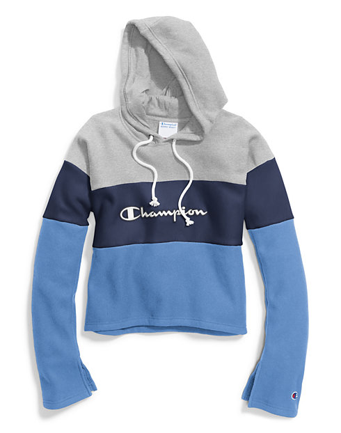 Champion Life® Women's Reverse Weave® Cropped Colorblock Pullover Hood