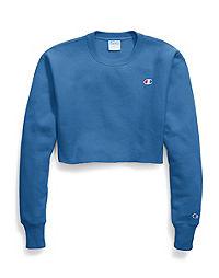 Champion Life® Women's Reverse Weave® Cropped Cut Off Crew-Men's Fit, C Logo
