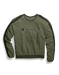 Champion Life® Women's Vintage Dye Fleece Cold Shoulder Top, Chainstitch Logo