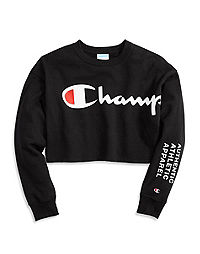 Champion Life® Women's Cut Off Cropped Crew Men's-Fit, Behind The Label