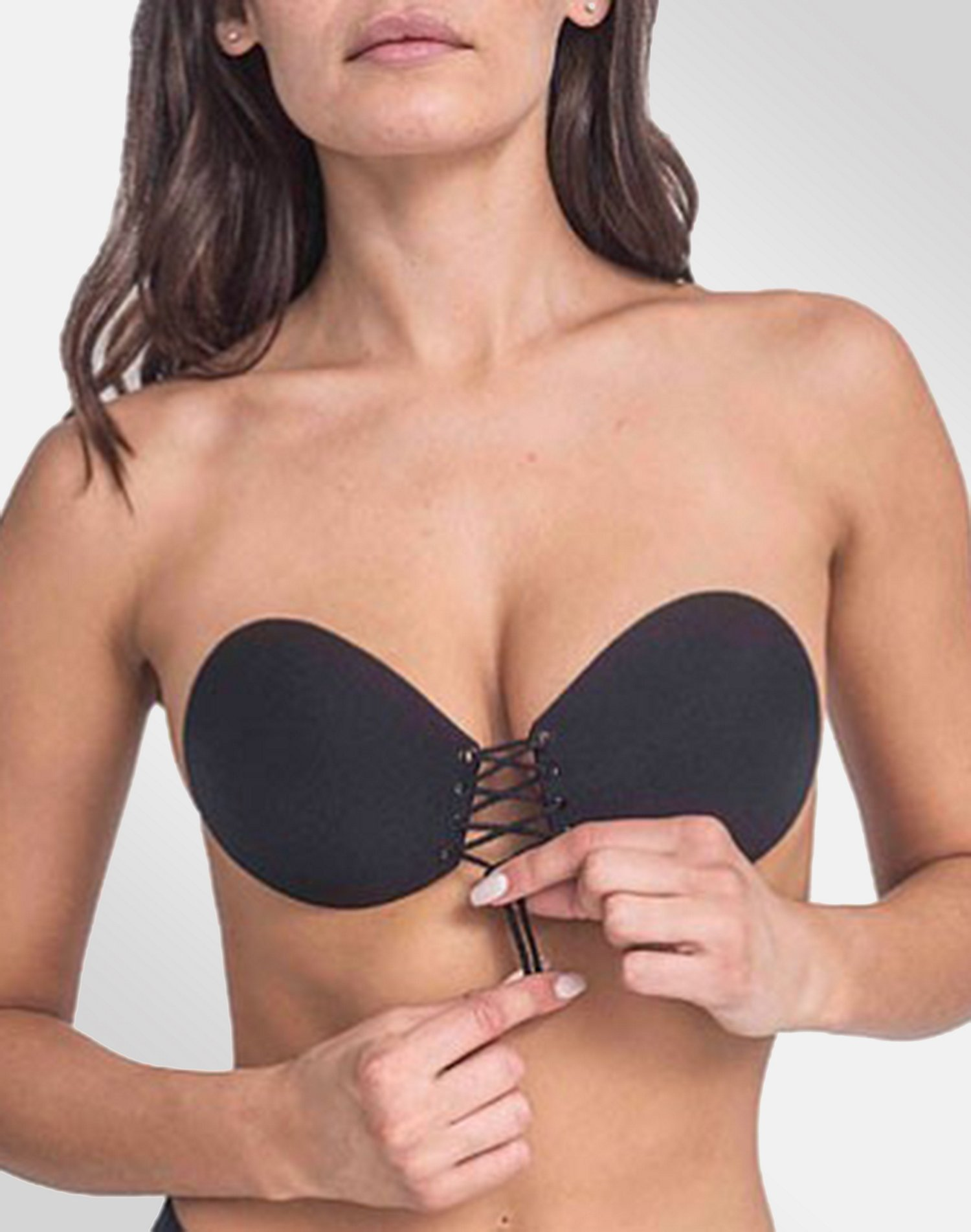 a056d3617bcaa Maidenform Lace Up Adhesive Bra